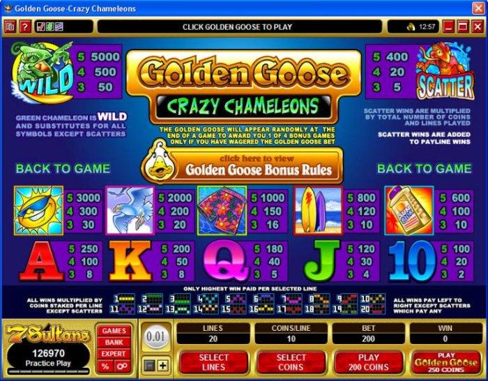 Golden Goose - Crazy Chameleons by All Online Pokies