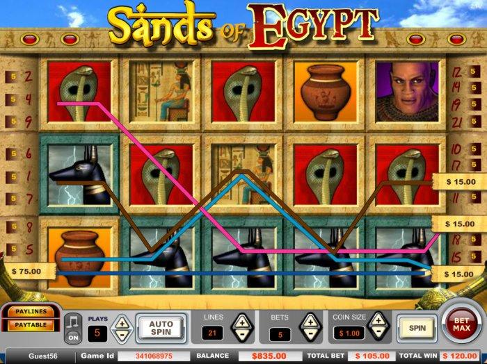 Sands of Egypt screenshot