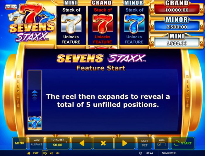 All Online Pokies image of Sevens Staxx