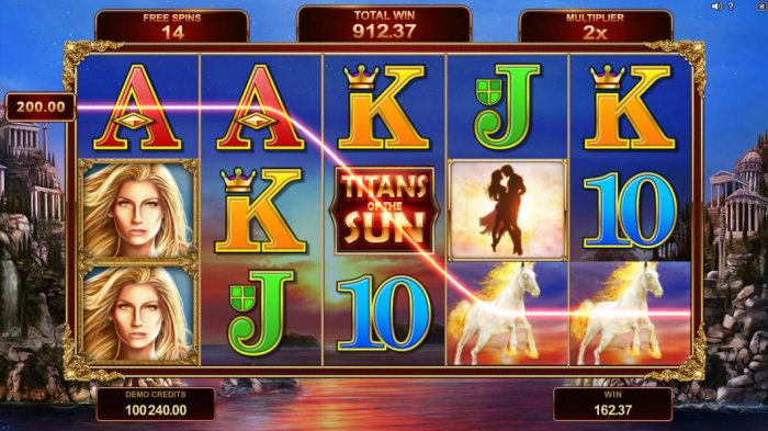 Free spins game board. All wins during free spins are multiplied by 2x. by All Online Pokies