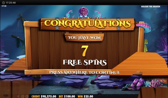 7 Free Spins Awarded by All Online Pokies