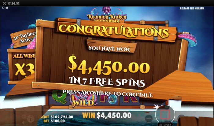 Release the Kraken by All Online Pokies