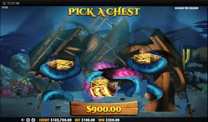 All Online Pokies image of Release the Kraken