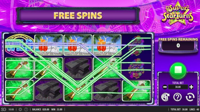 All Online Pokies image of Super Star Turns