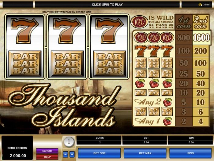 Main game board featuring three reels, 1 payline and a 1,600x max payout - All Online Pokies