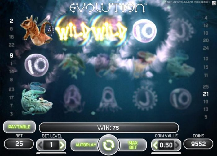 Evolution screenshot