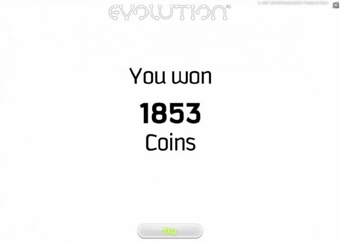 All Online Pokies - free spins bonus feature pays out 1853 coins