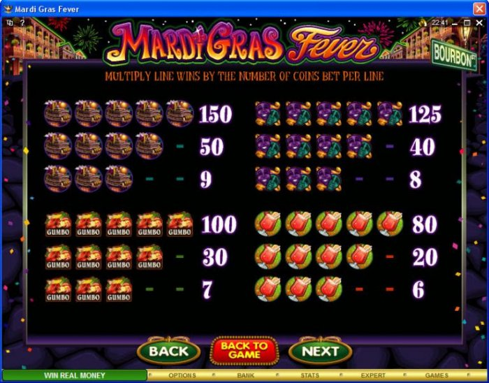 All Online Pokies image of Mardi Gras Fever