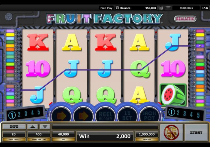 All Online Pokies image of The Fruit Factory