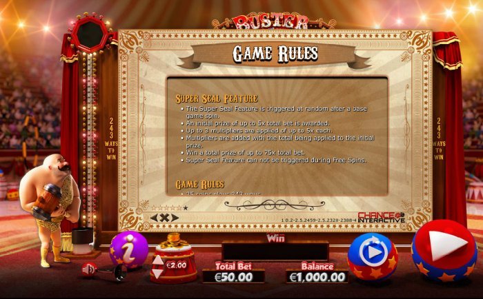 Super Seal Feature Rules - All Online Pokies