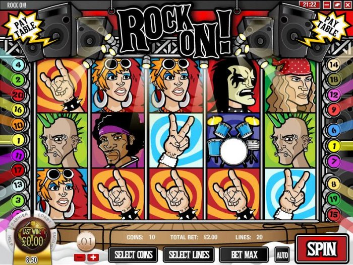 All Online Pokies image of Rock On