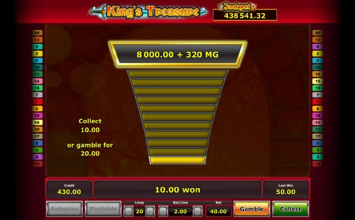 All Online Pokies - Gamble feature is available after every winning spin. Click the gamble button for a chance to increase your winnings, your odds are 50/50