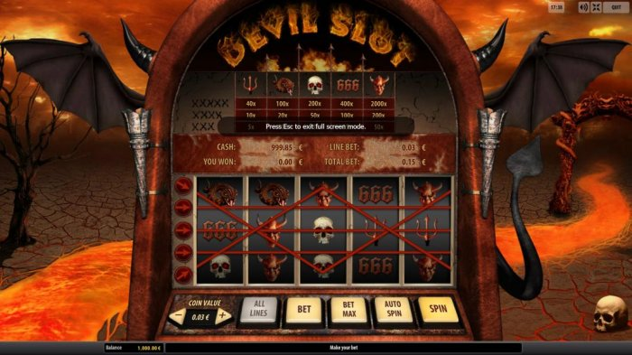 main game board featuring five reels and five paylines - All Online Pokies