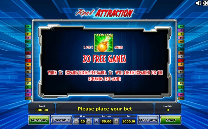 3 or more test tube scatter symbols awards 20 free games! by All Online Pokies