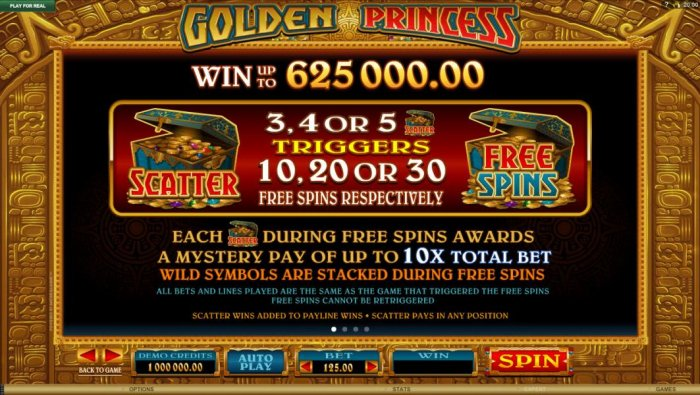 Golden Princess by All Online Pokies