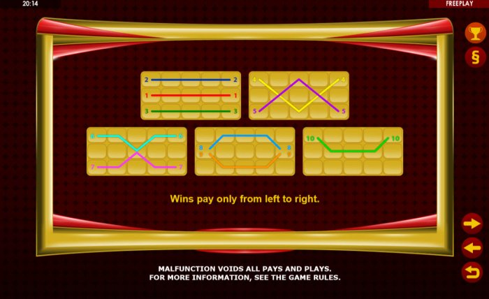 Paylines 1-10 - All Online Pokies