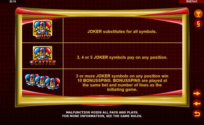 All Online Pokies image of Golden Joker