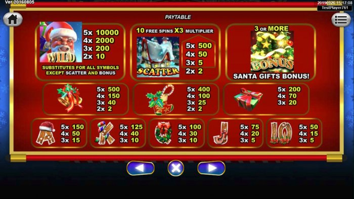 Santa Gifts by All Online Pokies