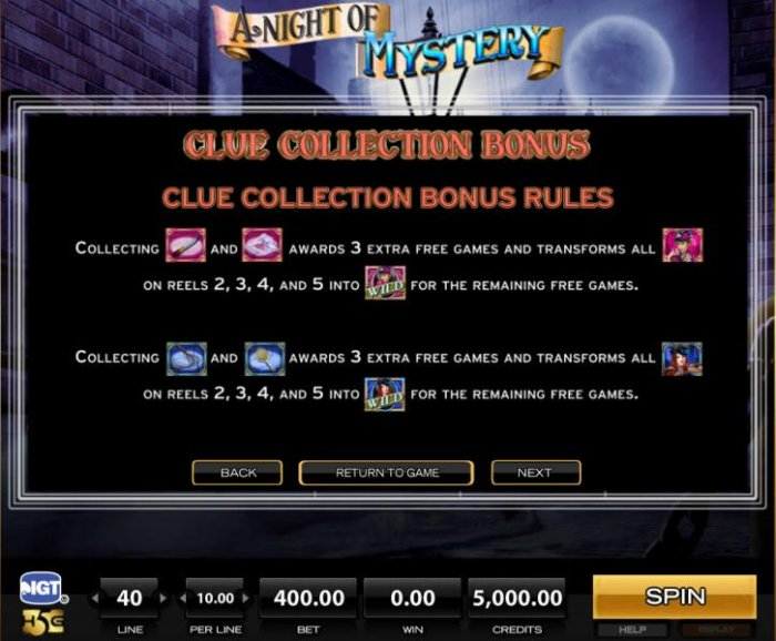 All Online Pokies image of A Night of Mystery
