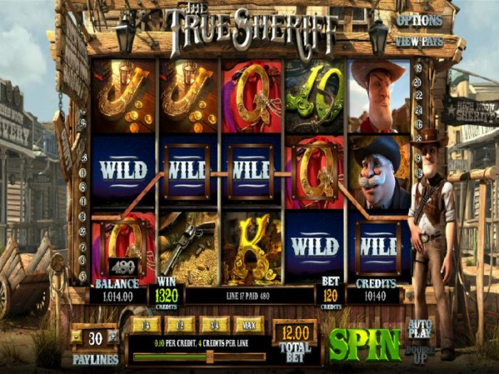 wild guns feature triggers a 1320 coin big win by All Online Pokies