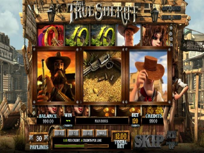 All Online Pokies image of The True Sheriff