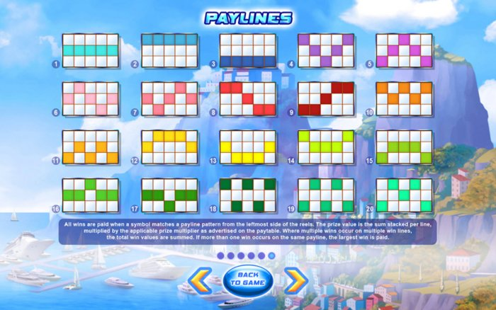 Paylines 1-20 by All Online Pokies