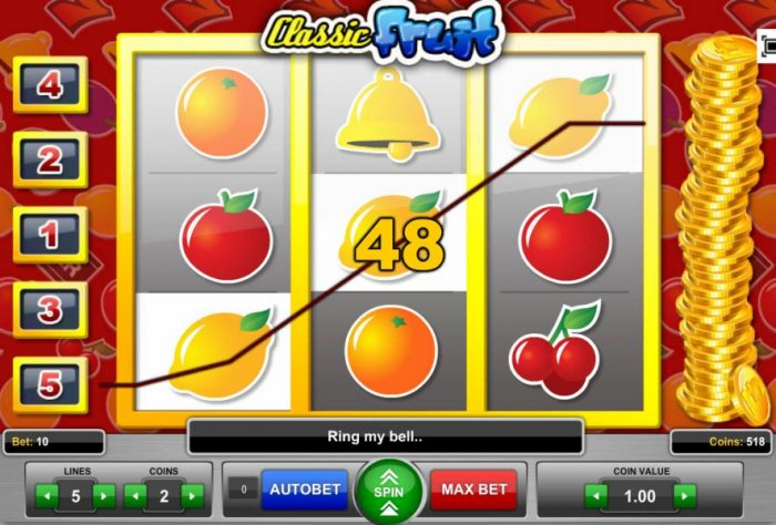 Three of a kind triggers a 48 coin payout - All Online Pokies