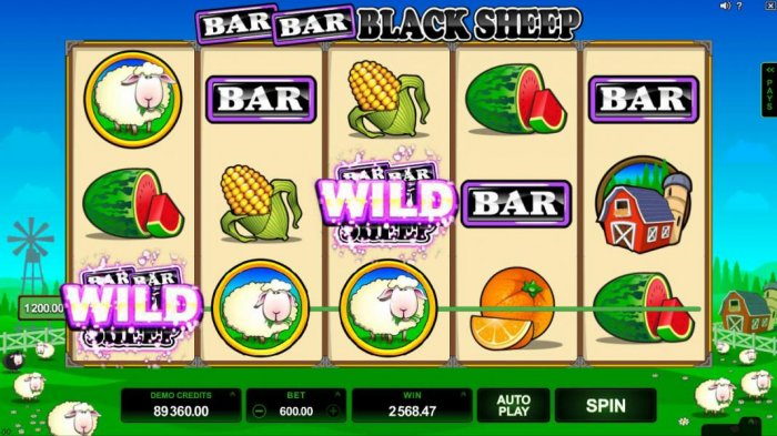 Bar Bar Black Sheep 5 Reels by All Online Pokies