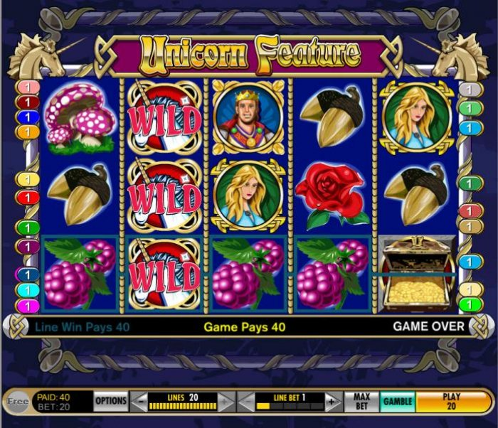 four of a kind triggers a modest payout by All Online Pokies