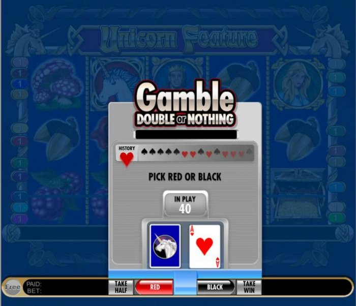 gamble feature game board - double or nothing - All Online Pokies