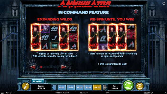 In Command Feature by All Online Pokies