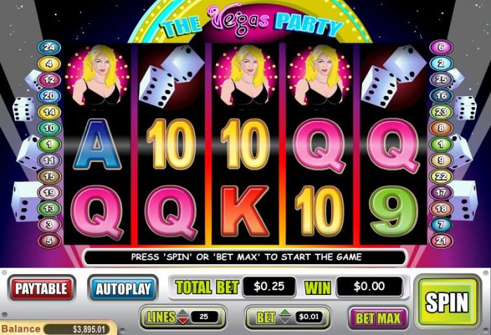 All Online Pokies image of Vegas Party