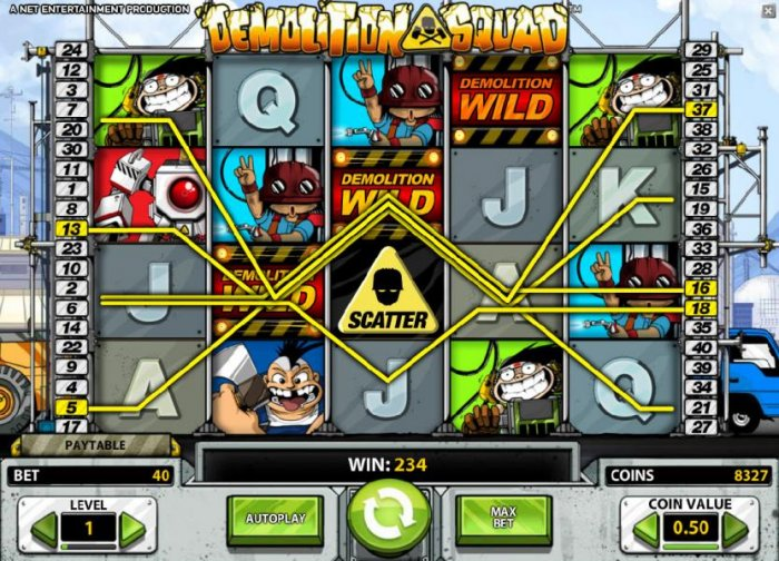 All Online Pokies image of Demolition Squad