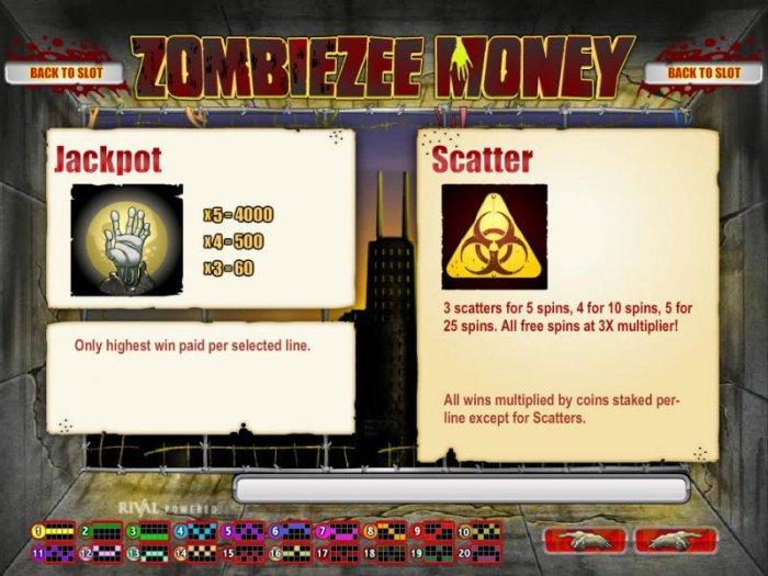 Zombiezee Money screenshot