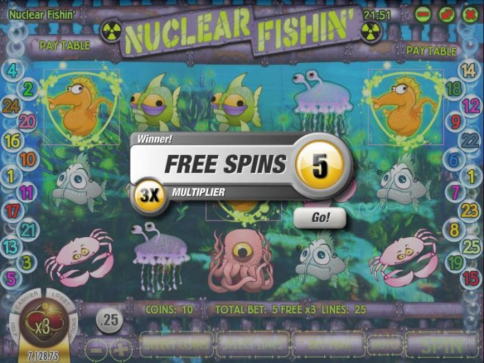All Online Pokies - five free spins awarded