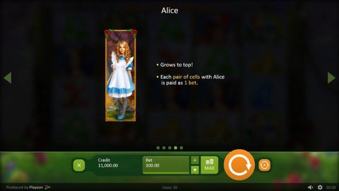 All Online Pokies image of Alice in Wonderslots