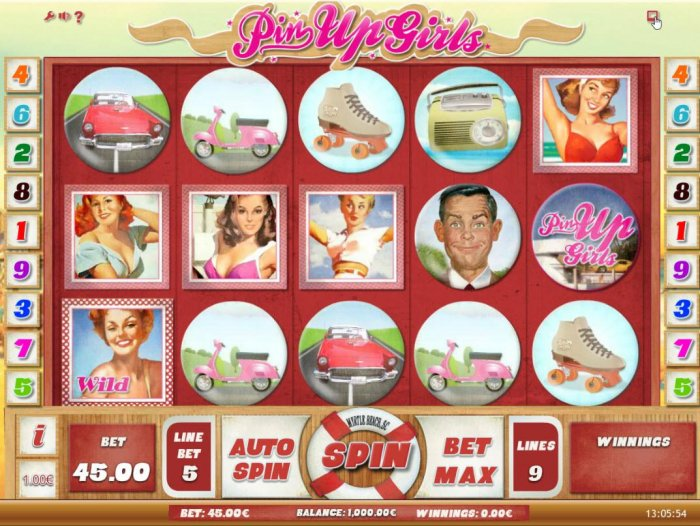 Pin Up Girls by All Online Pokies