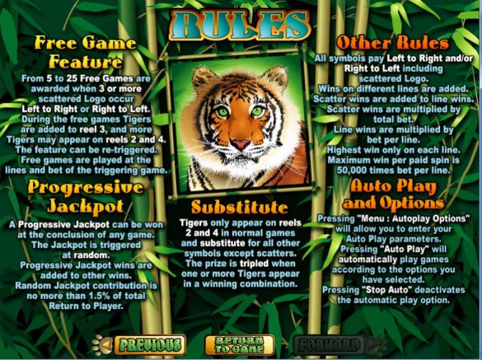 All Online Pokies image of Tiger Treasures