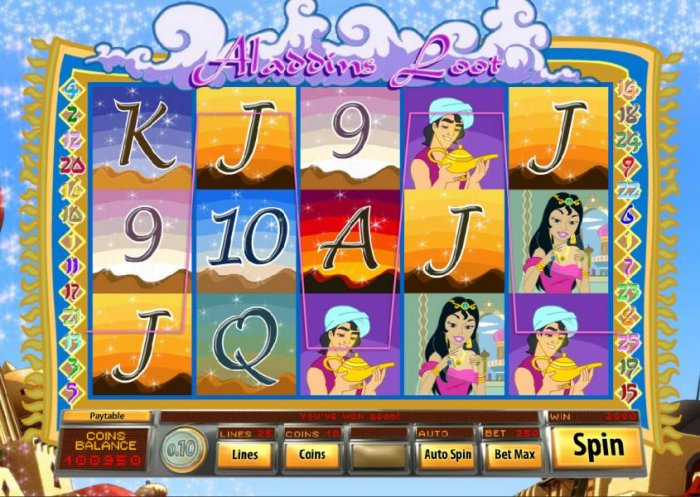 All Online Pokies - another 2000 coin jackpot triggered by a five of a kind
