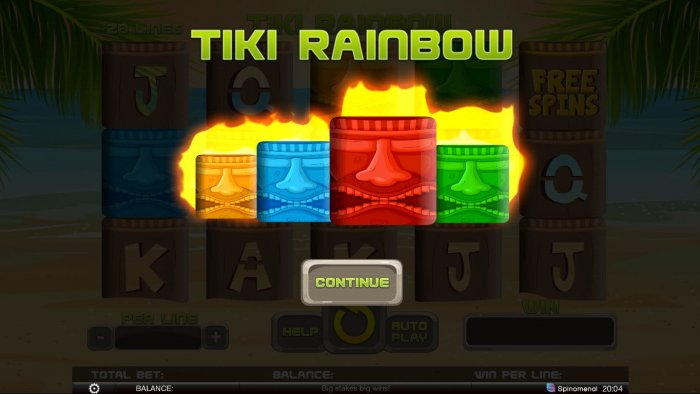 Tiki Rainbow by All Online Pokies