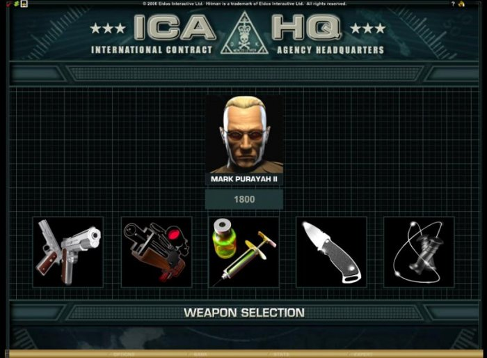 once you have selected your target you will have to select a weapon to use against him - All Online Pokies