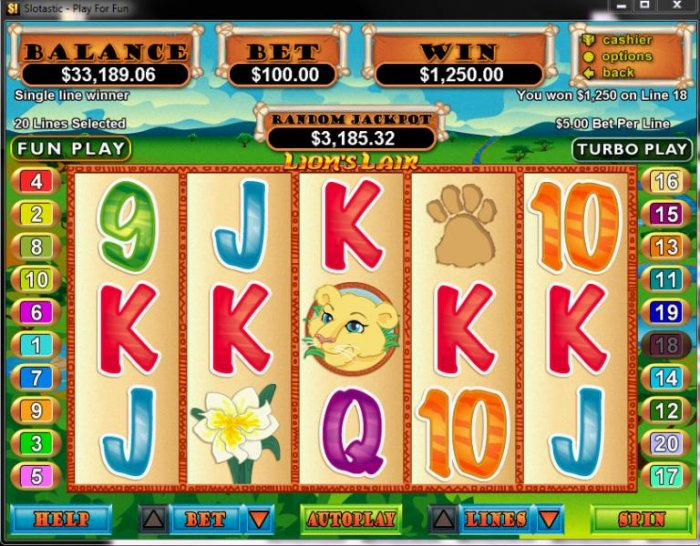 All Online Pokies image of Lion's Lair