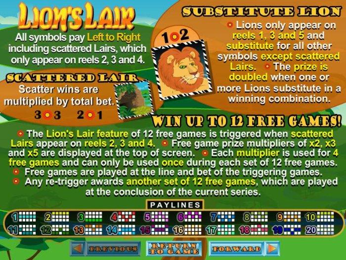 Lion's Lair screenshot