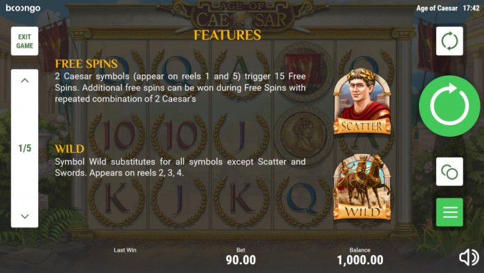 All Online Pokies image of Age of Caesar