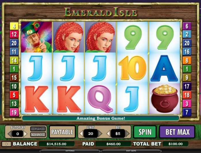 Emerald Isle by All Online Pokies