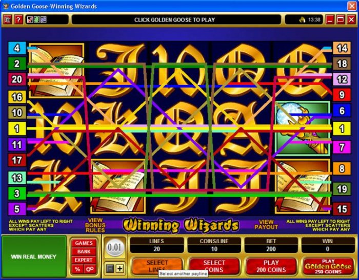 Golden Goose - Winning Wizards screenshot