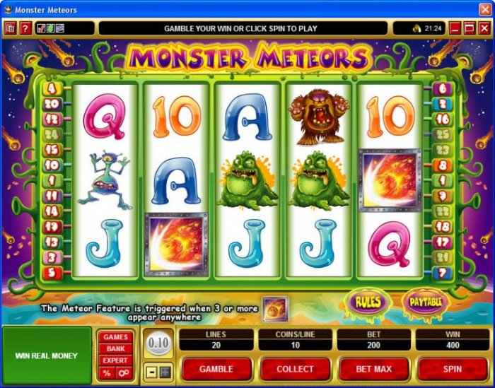 Monster Meteors by All Online Pokies