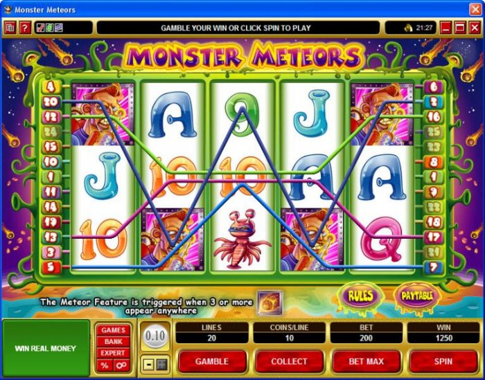 All Online Pokies image of Monster Meteors