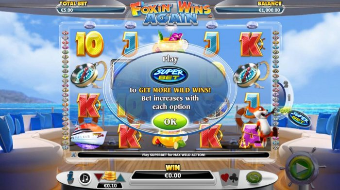 Play Super Bet to More Wild Wins! Bet increases with each option. by All Online Pokies