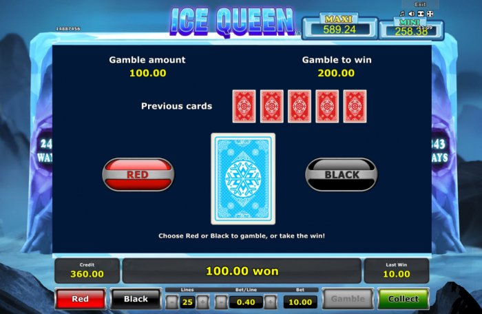 Red or Black Gamble feature by All Online Pokies